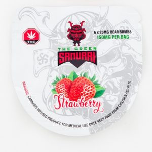 Buy The Green Samurai – Strawberry Bear Bombs 150mg THC online Canada