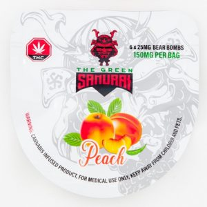 Buy The Green Samurai – Peach Bear Bombs 150mg THC online Canada