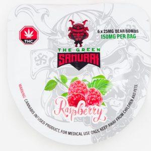 Buy The Green Samurai – Raspberry Bear Bombs 150mg THC online Canada