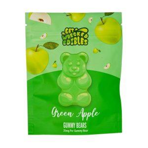 Buy Get Wrecked Edibles – Green Apple Gummy Bears THC online Canada