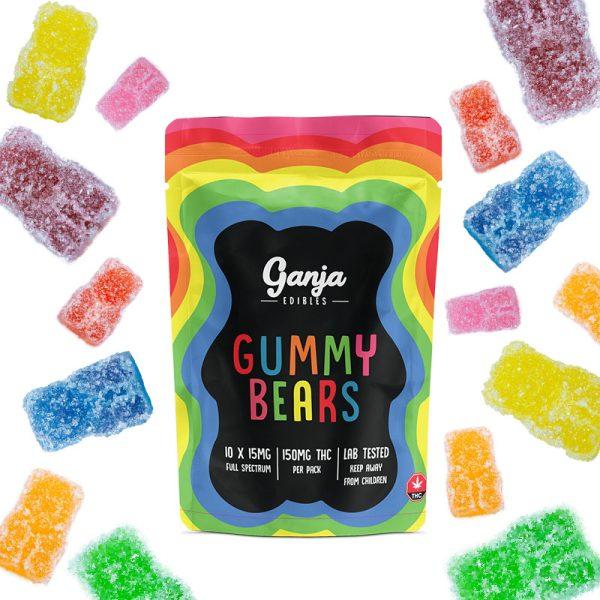 Buy Ganja Edibles – Sour Ganja Bears 150mg THC online Canada
