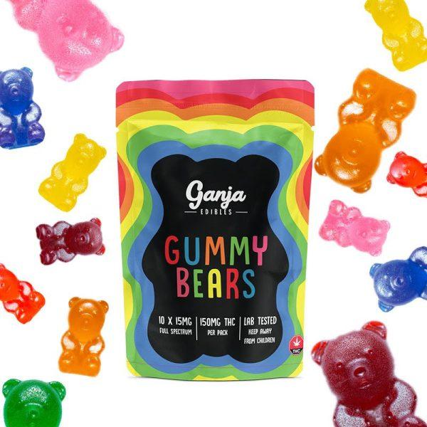 Buy Ganja Edibles – Ganja Bears 150mg THC online Canada