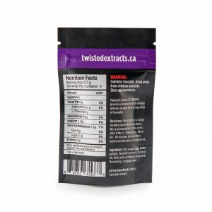 Buy Twisted Extracts Black Cherry ZZZ Bomb 80mg THC Indica online Canada