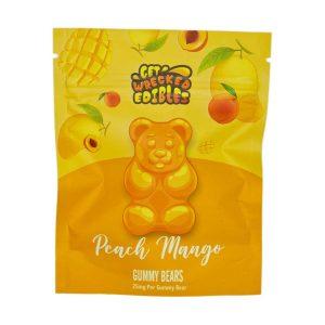 Buy Get Wrecked Edibles – Peach Mango Gummy Bears THC online Canada