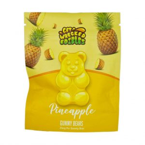 Buy Get Wrecked Edibles – Pineapple Gummy Bears THC online Canada