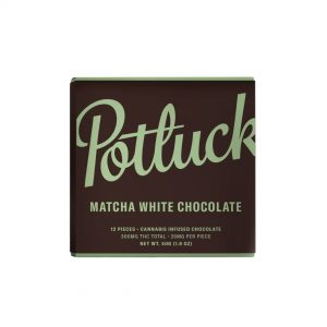 Buy Potluck Chocolate – Matcha White Chocolate 300mg THC online Canada