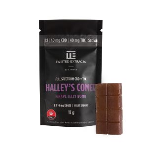 Buy Twisted Extracts Halleys Comet Grape 40mg THC 40mg CBD Sativa online Canada