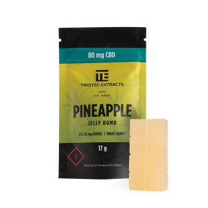 Buy Twisted Extracts Pineapple Jelly Bombs 80mg CBD online Canada