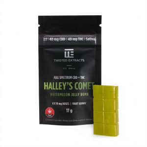 Buy Twisted Extracts Halleys Comet Watermelon 40mg THC 40mg CBD Sativa online Canada