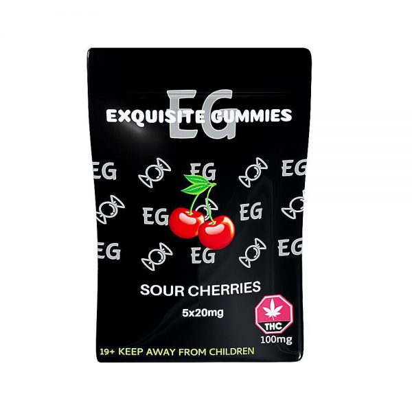 Buy Exquisite Gummies – Sour Cherry 100mg THC online Canada