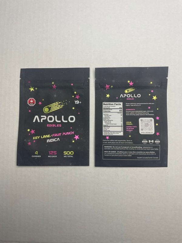 Buy Apollo Edibles – Key Lime/Fruit Punch Shooting Stars 500mg THC Indica online Canada
