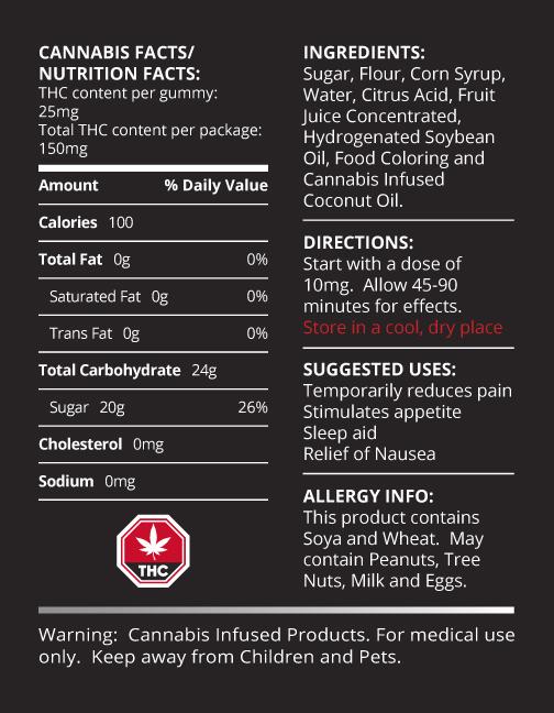 Buy Doobie Snacks – Strawberry Cream Ropes 150mg THC online Canada