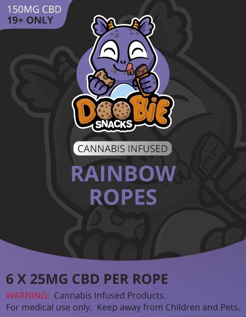 Buy Doobie Snacks – Rainbow Ropes 150mg CBD online Canada
