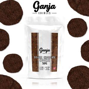 Buy Ganja Edibles – Double Chocolate Cookie 30mg online Canada