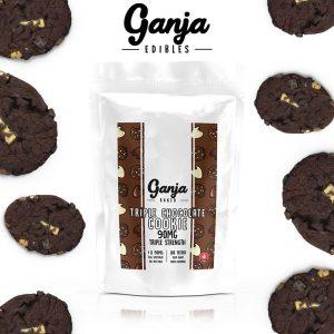 Buy Ganja Edibles – Triple Chocolate Cookie 90mg online Canada