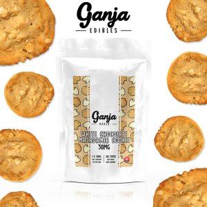 Buy Ganja Edibles – White Chocolate Macadamia Cookie 30mg online Canada