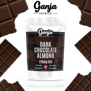 Buy Ganja Edibles – Dark Chocolate Almond Bar 210mg online Canada