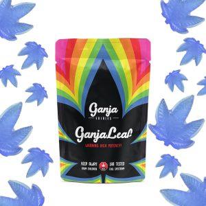 Buy Ganja Edibles – Ganja Leaf Blue Raspberry 1250mg THC online Canada