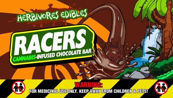 Buy Herbivores Edibles Racers Chocolate Bars online Canada