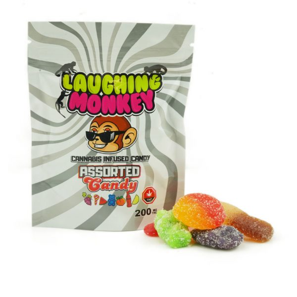 Buy Laughing Monkey – Assorted Candy Gummies 200mg THC online Canada
