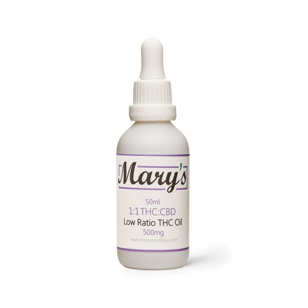 Buy Mary's Medibles – Low Ratio 1:1 THC Tincture 500mg THC/500mg CBD online Canada