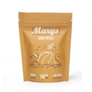 Buy Mary's Medibles Sour Swirls Triple Strength 140mg Sativa online Canada