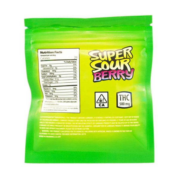 Buy Fruit Gushers – Super Sour Berry 500mg THC online Canada