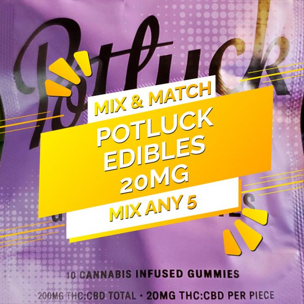 Buy Potluck Edibles – Mix and Match 5 online Canada