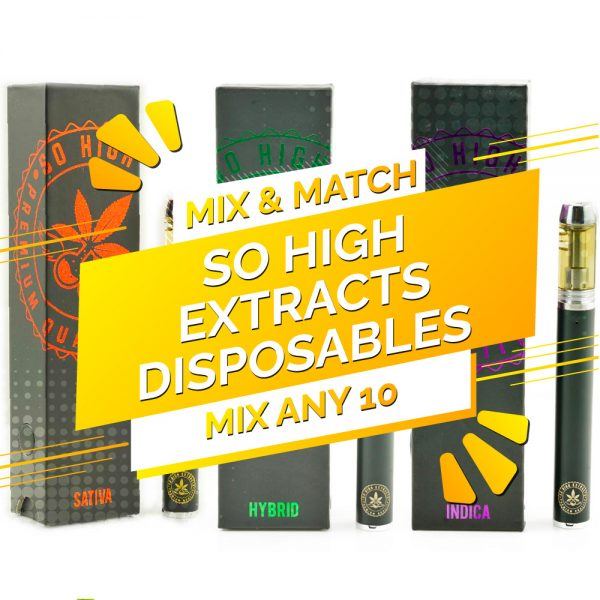 Buy So High Extracts THC Distillate Disposable Pen – Mix and Match 10 online Canada