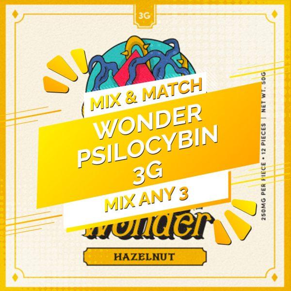 Buy Wonder – Psilocybin Chocolate Bar 3g – Mix and Match 3 online Canada