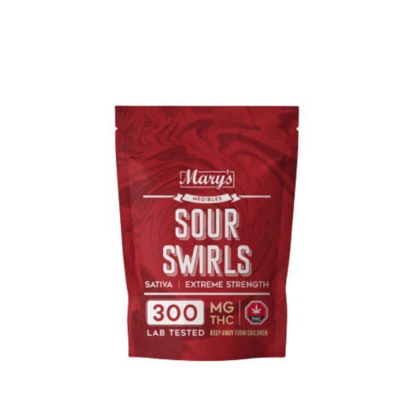 Buy Mary's Medibles Sour Swirls Extreme Strength 300mg Sativa online Canada