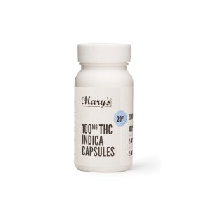 Buy Mary's Medibles – THC Capsules 100mg Indica online Canada