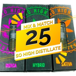 Buy So High Extracts THC Distillate Mix and Match – 25 online Canada