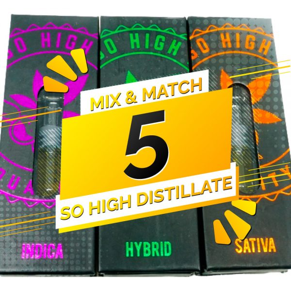 Buy So High Extracts THC Distillate Mix and Match – 5 online Canada